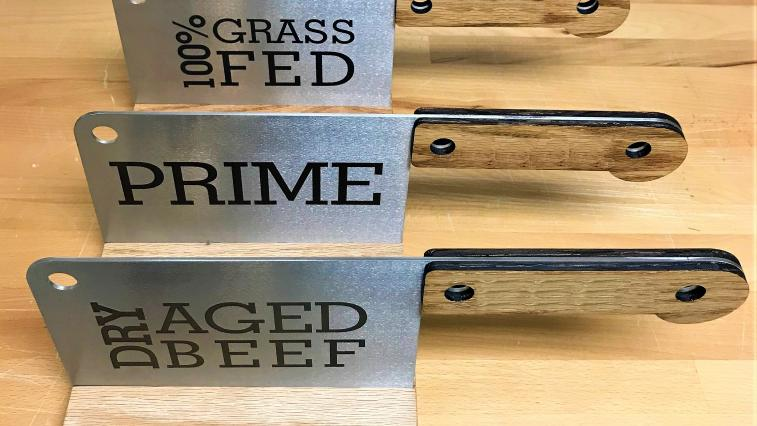 <p>Enjoy our Custom Laser-Engraved Cleaver Signs!</p>